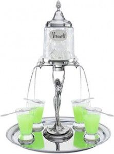 Most absinthe experts consider the absinthe fountain more than just a piece of ornamental water dispenser. Absinthe connoisseurs know that to achieve the best quality of a louche, a steady slow trickle of cold water is necessary and not by wallowing water into the glass! Even if cold water can be slowly poured from a decanter into the absinthe drinks, using the absinthe fountain still proved to be the handiest way to bring out the true taste and awesome colour of the perfect absinthe.