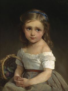 Emile Munier Mädchen mit Zwetschgenkorb 1875