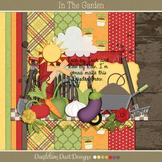 In The Garden Mini Digital Scrapbook Kit By Dandelion Dust Designs #DandelionDustDesigns #DigitalScrapbooking #InTheGarden #GingerScraps