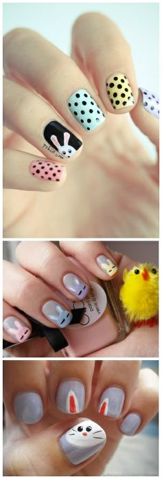 DIY Easter Nail Art