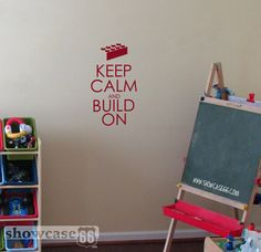 Keep Calm and Build On  Vinyl Wall Art  FREE by showcase66 on Etsy, $17.50