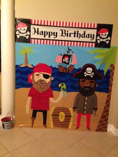 "Pirate party ""photo booth"" #piratebirthday #boysbirthday #pirate"