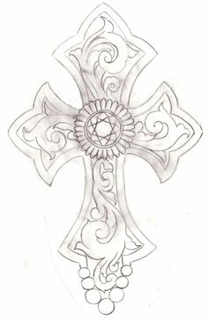 Cross Tattoo 2 by ~Metacharis on deviantART Leather Tooling Patterns, Leather Pattern, Celtic Patterns, Cross Patterns, Cross Coloring Page, Coloring Pages, Cross Drawing, Peace Drawing, Rosen Tattoos