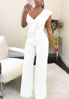 Off shoulder women jumpsuit Elegant stylish jumpsuit Layered ruffles high waist jumpsuits Female overalls streetwear Rompers Women, Jumpsuits For Women, Blouses For Women, Pants For Women, Ladies Pants, Leather Jumpsuit, Lace Jumpsuit, White Romper Pants, Elegant Jumpsuit