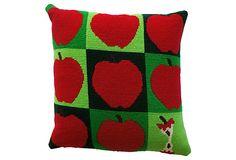 Apples Needlepoint Pillow on OneKingsLane.com