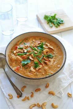 Creamy Indian Cashew Chicken / Bev Cooks. I've never wanted anything so much in my life.