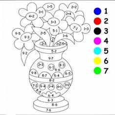 Math Coloring Worksheets | Worksheet School Math Coloring Worksheets, Math Practice Worksheets, Preschool Worksheets, Kindergarten Math Activities, Homeschool Math, Maths Puzzles, Math For Kids, Coloring For Kids, Math Lessons