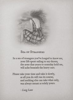 I wrote this just months before I met the love of my life.  ~ Lang Leav