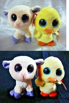 b0096314724 Basket Beanies 158681  Ty Goldie The Chick And Lily The Lamb Pair- 4 Easter Beanie  Boos-Mint W Mint Tags -  BUY IT NOW ONLY   28.86 on  eBay  basket ...
