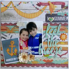"""How to Make Papers Pop   Cutting Out Font for Titles by Angel Rodrigue July Main kit """"I Heart Summer"""" collection by Simple Stories 2013"""