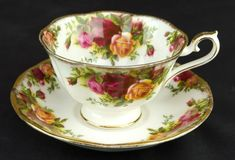 Old Country Roses Avon Tea Cup Saucer 1st Quality 1962 73 Royal Albert | eBay