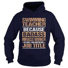 SWIMMING TEACHER T Shirts, Hoodies. Check Price ==► https://www.sunfrog.com/LifeStyle/SWIMMING-TEACHER-97182354-Navy-Blue-Hoodie.html?41382