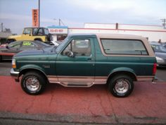 1996 Ford Bronco Eddie Bauer Pacific Green. I had one from June 2001 to December 2007. I miss it :(
