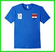 Mens Croatia Croatian Football Futbol Nogomet Soccer T-Shirt Small Royal Blue - Sports shirts (*Amazon Partner-Link)