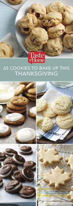 65 Cookies to Bake Up This Thanksgiving (from Taste of Home)