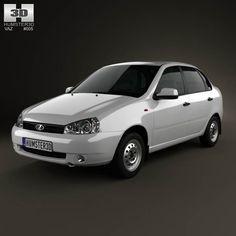 Lada Kalina (1118) sedan 2011 3d model from humster3d.com. Price: $75