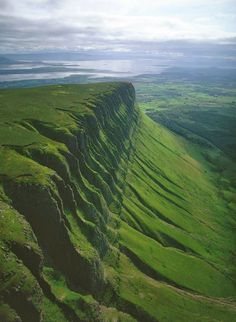 Ben Bulben, a large rock formation in County Sligo, Ireland