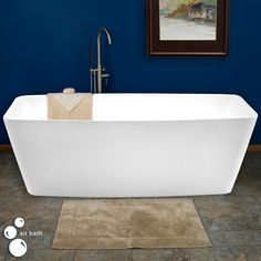 "67"" Modo Rectangular Freestanding Acrylic Air Bath Tub"