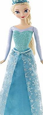Disney CFB73 Frozen Sparkle Elsa Doll Beloved Elsa from Disneys animated, Academy Award winning hit Frozen, absolutely dazzles in sparkling fashions of signature colours. Wearing a glittery, detailed skirt, (Barcode EAN = 7662558224005) http://www.comparestoreprices.co.uk/december-2016-week-1-b/disney-cfb73-frozen-sparkle-elsa-doll.asp