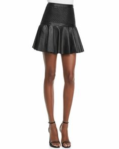 Robert Rodriguez | Cane-Weave Leather Short Skirt - CUSP