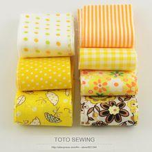 F036 #7 unids/lote 100% tela de algodón oro amarillo juegos jelly roll tiras quilting patchwork tela 5 cm x 100 cm para arte hecho a mano diy(China (Mainland))