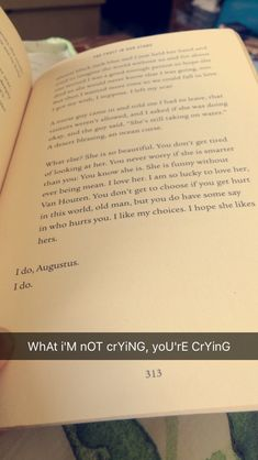 I'M NOT CRYING YOURE CRYING. The fault in our stars