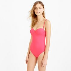 J.Crew+-+Neon+underwire+low-back+one-piece+swimsuit