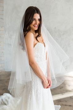 Veil Hairstyles, Wedding Hairstyles With Veil, Bridal Hair Half Up With Veil, Bride Hairstyles With Veil, Veil Hair Down, Simple Veil, Simple Wedding Veil, Wedding Dress With Veil, Fingertip Veil