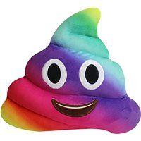 Coussin Caca, Yistu 20cm Amusant Emoji émoticônes Coussin Caca Forme Oreiller Poupée Jouet Cadeau (1#)