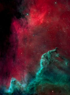 A part of the North America Nebula (NGC 7000) in the constellation Cygnus