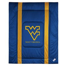 West Virginia Mountaineers NCAA Side Lines Collection Bed Comforter Tw