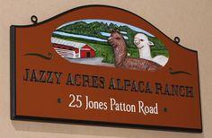 Jazzy Acres Alpaca Ranch Sign / Danthonia