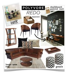 Polyvore HQ Redo Contest Entry by jpetersen on Polyvore featuring interior, interiors, interior design, home, home decor, interior decorating, Pottery Barn, Office Star, Gus* Modern and Pigeon & Poodle