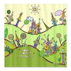 Whimsically Fun Homes Shower Curtain