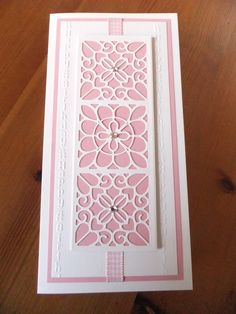 Sue Wilson striplet & tattered lace vertical embossing folder