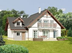 DOM.PL™ - Projekt domu ARP Metis II CE - DOM AP1-12 - gotowy koszt budowy Home Fashion, Outdoor Structures, Cabin, Mansions, House Styles, Home Decor, Decoration Home, Room Decor, Cabins