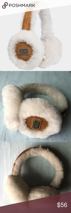 Genuine Suede/Shearling Ear Muffs These are perfect for keeping your ears warm and cozy during the upcoming season! ⛄️❄️ Excellent condition, only been worn a few times! Material: Genuine sheepskin. Original box included. Similar brand to UGG. Thanks for looking 😊 Australia Luxe Collective  Accessories