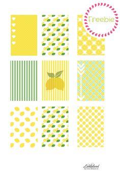 Free Printable Summer Lemon Big Happy Planner Stickers | Lahlaland