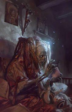The Wickedly Dark Fantasy Art of Peter Polach Arte Horror, Horror Art, Dark Fantasy Art, Digital Art Illustration, Vampires, Art Sinistre, Art Noir, World Of Darkness, Creepy Art