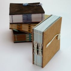 Mini Notebook - recycled leather - Kate Bowles