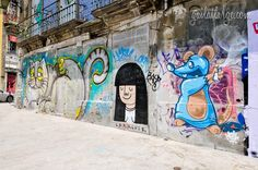 street art by Costah, Lara Luís, Mesk in Largo Moínho de Vento, Porto