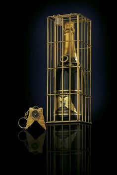 Most expensive champagne in cage