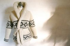 I will always be a sweater girl and this is just the cream of the crop- hand knit on a loom and gorgeous!