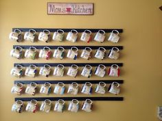 A way to display my starbucks mugs I've collected while traveling.......