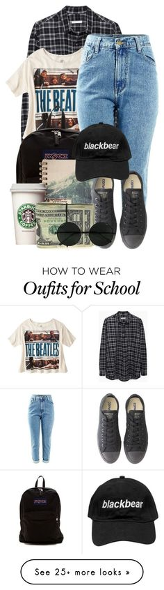 """""""ehh"""" by kellyaguilera on Polyvore featuring 6397, JanSport, Converse and tomboy"""