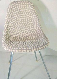 customized eames' shell chair. three.