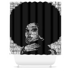 Worded Natural Woman (Blk/Wht) Shower Curtain. Add Drama To Your Bath