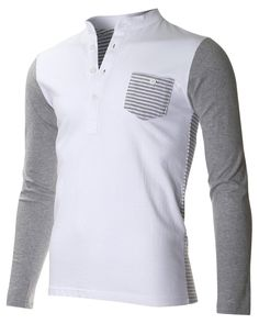 f3a5562465ae92 FLATSEVEN Men s Casual Henley Shirt with Button at Amazon Men s Clothing  store