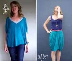 Una falda con caída, en 5 minutos #moda #reparación #Yolohice #Singer