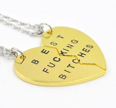 Carling Best Friend Necklaces with Matching Best F****** B*****s Pendants